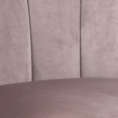 Dizajnové otočné kreslo Nira svetloružové