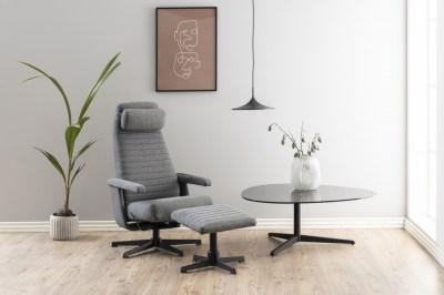 Dizajnové relaxačné kreslo Nantale, tmavo šedé
