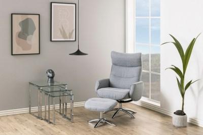 Dizajnové relaxačné kreslo Naoise, svetlo šedé