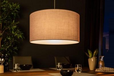 Dizajnové závesné svetlo Nash, 50 cm, sivé