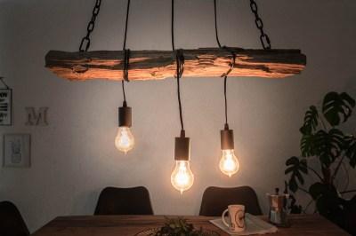 Dizajnové závesné svetlo Shark 73 cm recyklované drevo