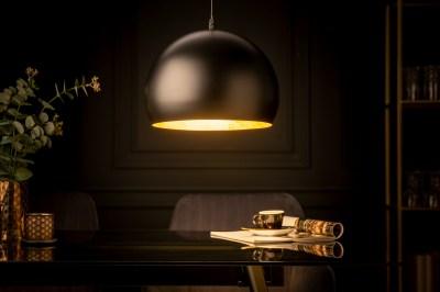 Dizajnové závesné svietidlo Colt 30 cm zlaté listy čierne