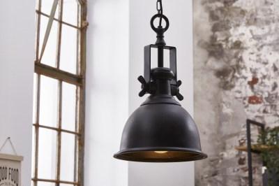 Dizajnové závesné svietidlo Commercial čierne