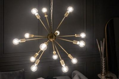 Dizajnové závesné svietidlo Daube 85 cm zlaté