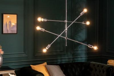 Dizajnové závesné svietidlo Walter strieborné