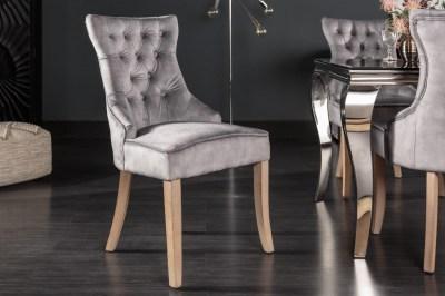 Dizajnová stolička Queen zamat sivá