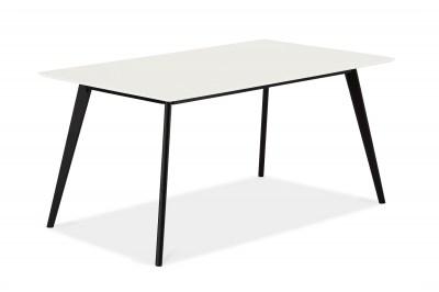Dizajnový jedálenský stôl Aaden, biela / čierna