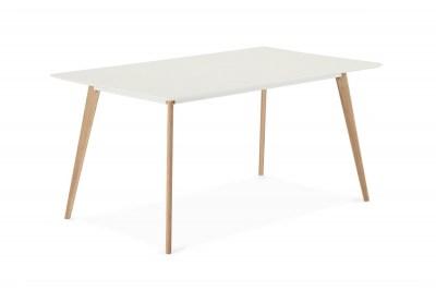 Dizajnový jedálenský stôl Aaden, biela / dub