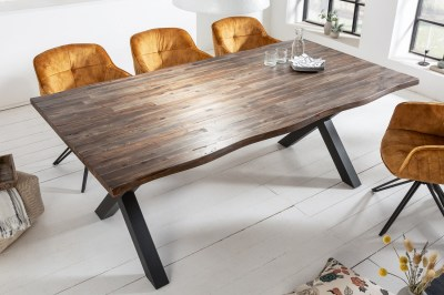 Dizajnový jedálenský stôl Evolution 200 cm hnedý / akácia