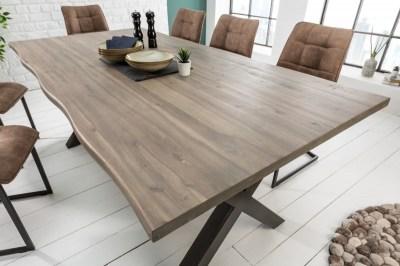 Dizajnový jedálenský stôl Evolution Grey 160 cm akácia