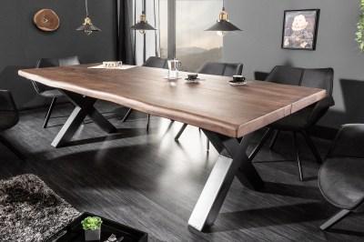 Dizajnový jedálenský stôl Lorelei 220 cm hnedý / akácia