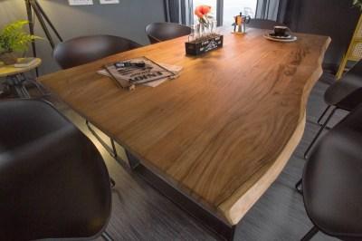 Dizajnový jedálenský stôl Massive 140 cm divá akácia