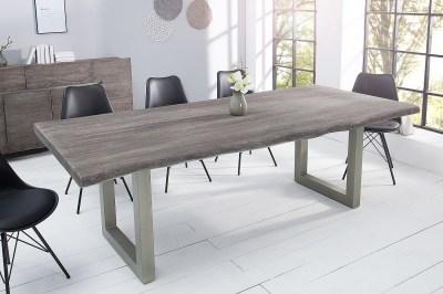 Dizajnový jedálenský stôl Massive 220 cm sivá akácia