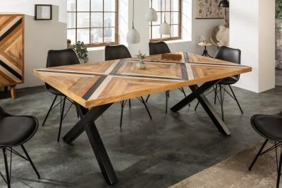 Dizajnový jedálenský stôl Rodney 200 cm čierny / mango