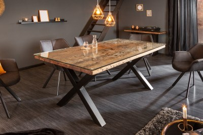 Dizajnový jedálenský stôl Shark X 180 cm prírodný