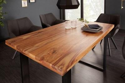Dizajnový jedálenský stôl Thunder 120 cm sheesham