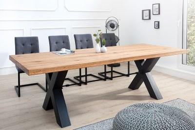 Dizajnový jedálenský stôl Thunder 240 cm divý dub