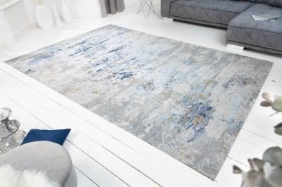 Dizajnový koberec Jakob 350 x 240 cm sivo-modrý