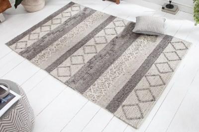 Dizajnový koberec Rebecca 240 x 160 cm sivý