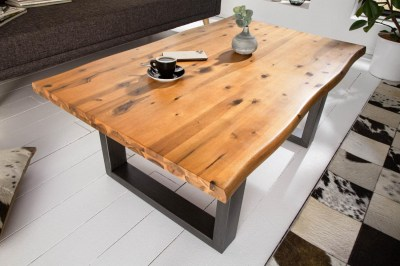 Dizajnový konferenčný stôl Evolution 110 cm akácia