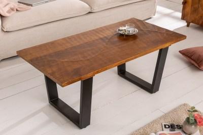 Dizajnový konferenčný stôl Shayla 110 cm hnedý / mango