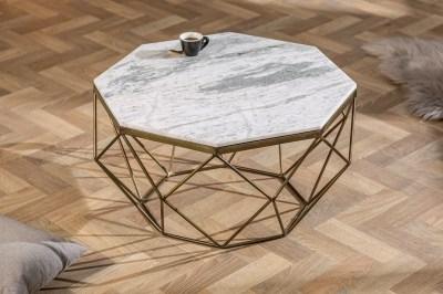 Dizajnový konferenčný stolík Acantha 70 cm mramor biely