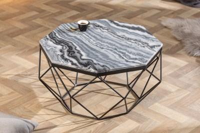 Dizajnový konferenčný stolík Acantha 70 cm mramor sivý