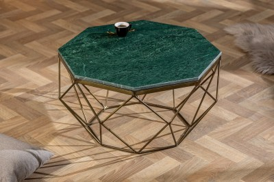 Dizajnový konferenčný stolík Acantha 70 cm mramor zelený