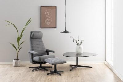 Dizajnový konferenčný stolík Ahab, 103 cm, dymová