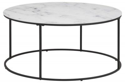 Dizajnový konferenčný stolík Ahman, biela / čierna