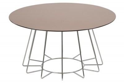 Dizajnový konferenčný stolík Ahmed, bronzová / chrómová