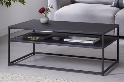 Dizajnový konferenčný stolík Damaris 100 cm čierny