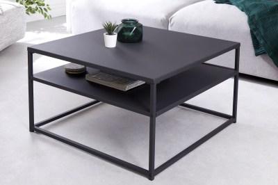 Dizajnový konferenčný stolík Damaris 70 cm čierny