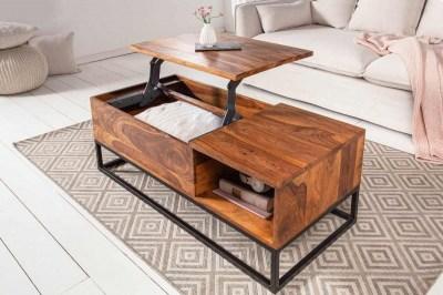 Dizajnový konferenčný stolík Timber Function 110 cm sheesham
