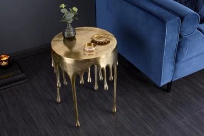 Dizajnový konferenčný stolík Gwendolyn 51 cm zlatý