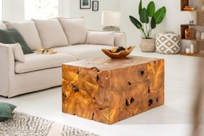 Dizajnový konferenčný stolík Junk 90 cm teak