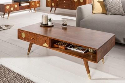 Dizajnový konferenčný stolík Justice 117 cm akácia