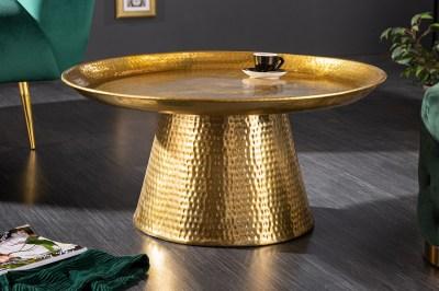 Dizajnový konferenčný stolík Malia 63 cm zlatý