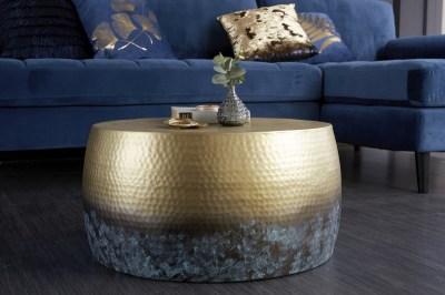 Dizajnový konferenčný stolík Malia III 60 cm zlatý žíhaný