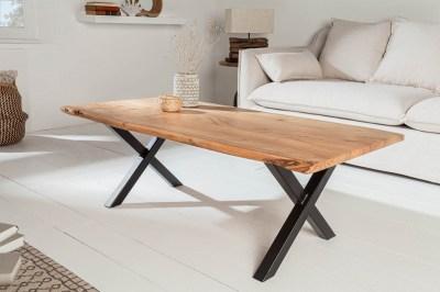 Dizajnový konferenčný stolík Massive X 118 cm akácia