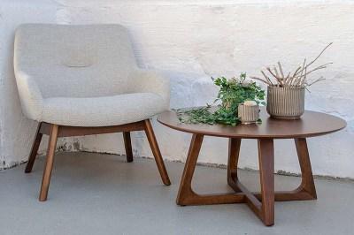 Dizajnový konferenčný stolík Miriam orech