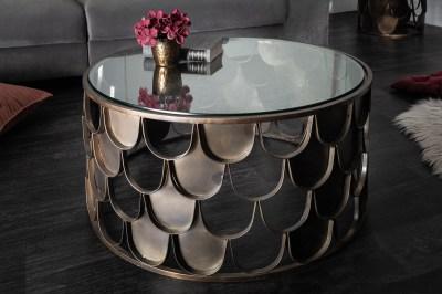 Dizajnový konferenčný stolík Pablo 70 cm mosadz