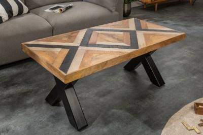 Dizajnový konferenčný stolík Rodney 110 cm čierny / mango