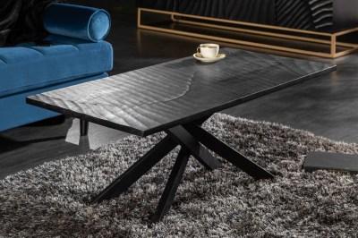 Dizajnový konferenčný stolík Shayla 110 cm čierny - mango