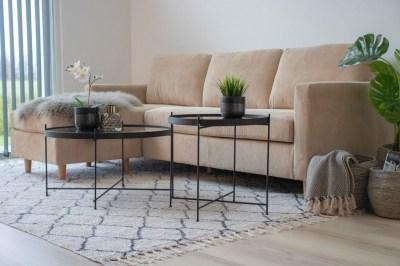 Dizajnový konferenčný stolík Tatum 70 cm čierny