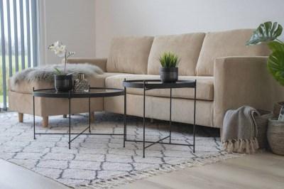 Dizajnový konferenčný stolík Tatum 48 cm čierny