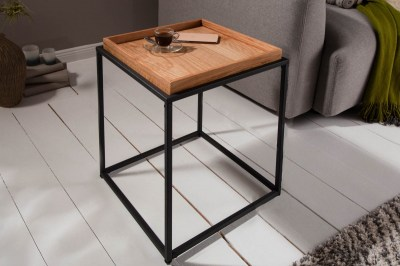 Dizajnový odkladací stolík Factor 40 cm dub
