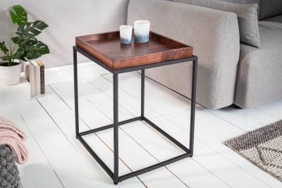 Dizajnový odkladací stolík Factor 40 cm mokka buk