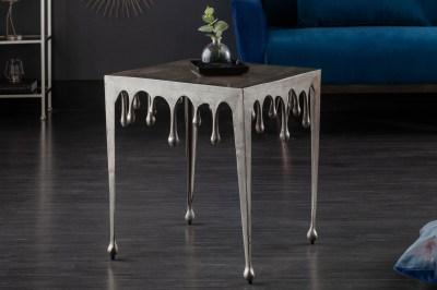 Dizajnový odkladací stolík Gwendolyn L 50 cm strieborný
