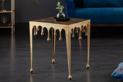 Dizajnový odkladací stolík Gwendolyn L 50 cm zlatý